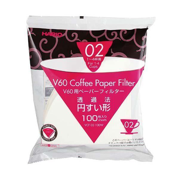 Hario filter paper 02 white, 100 pcs