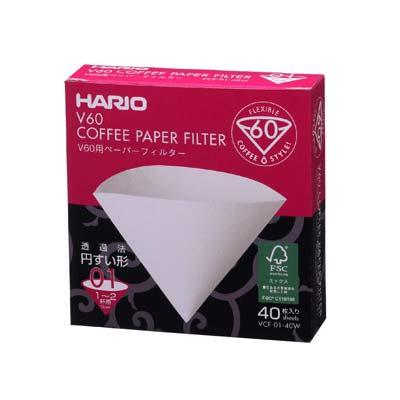 Hario filter paper V60, 40 pcs
